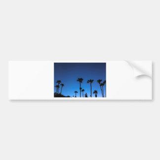 Blue Tropical Night Bumper Sticker