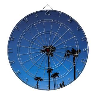 Blue Tropical Night Dartboard