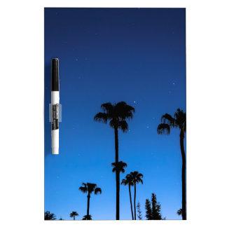 Blue Tropical Night Dry Erase Board
