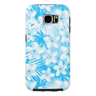 Blue tropical palm trees samsung galaxy s6 cases