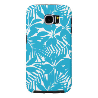 Blue tropical samsung galaxy s6 cases