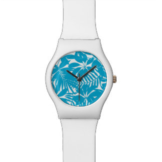 Blue tropical watch