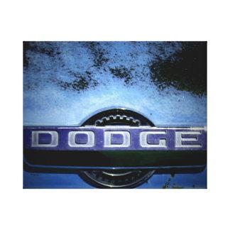 Blue Truck Badge Canvas Print