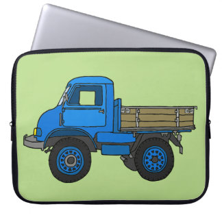 Blue truck laptop sleeve