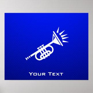 Blue Trumpet Print