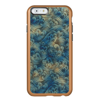 Blue Tsunami Ocean Tidal Waves Aged Water Color Incipio Feather® Shine iPhone 6 Case
