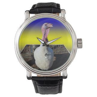 Blue Turkey Dimensional Art Watch