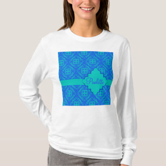 Blue & Turquoise Arabesque Moroccan Graphic T-Shirt