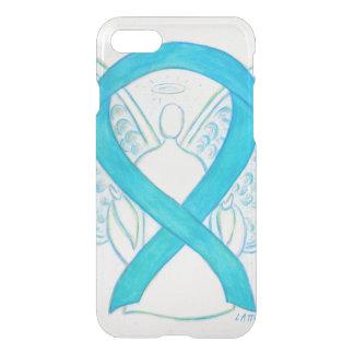 Blue Turquoise Awareness Ribbon Angel iPhone7 Case