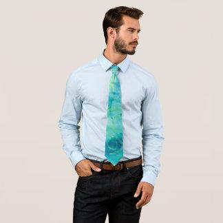 Blue Turquoise Monoprint 170267 Tie