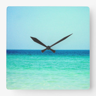 Blue Turquoise Ocean Wall Clock