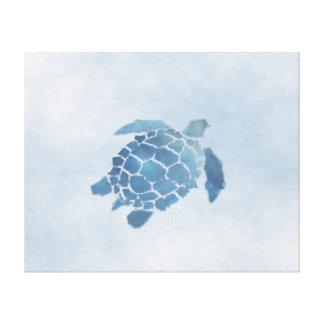 "Blue Turtle Canvas Print (20""x16"")"