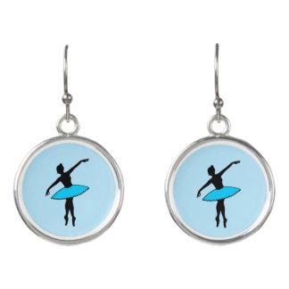 Blue Tutu Ballerina Ballet Dancer Dance Teacher Earrings