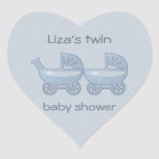 blue twin baby buggy stickers