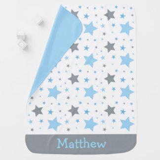 Blue Twinkle Star Baby Blanket