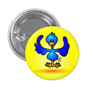Blue Twitter Bird 3 Cm Round Badge