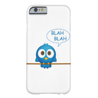 Blue twitter bird cartoon barely there iPhone 6 case