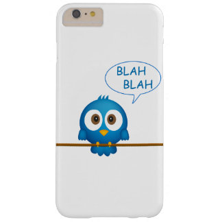 Blue twitter bird cartoon barely there iPhone 6 plus case