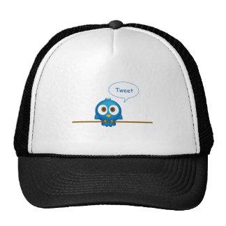 Blue twitter bird cartoon cap