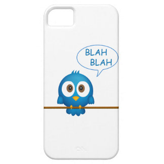 Blue twitter bird cartoon iPhone 5 covers