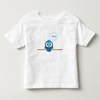 Blue twitter bird cartoon tweeting toddler T-Shirt