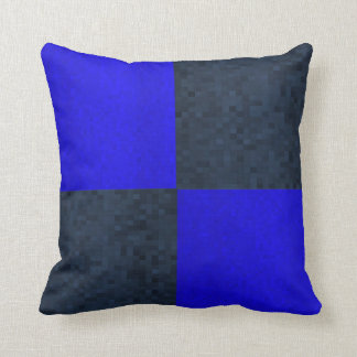 Blue Two Toned Mosaic Tiles Pattern, Cushion