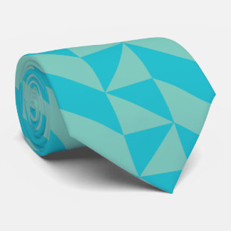 Blue Two Tones Triangle Tie