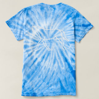 Blue Tye Die Outline Tee