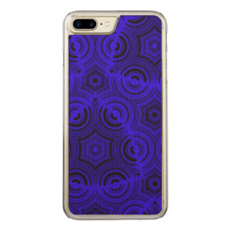 Blue ugly pattern carved iPhone 7 plus case