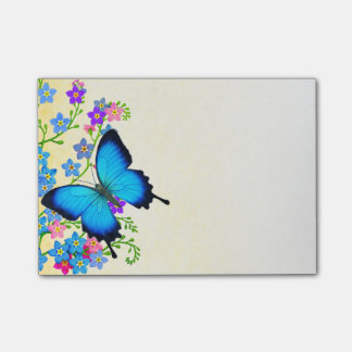 Blue Ulysses Butterfly Post-it Notes