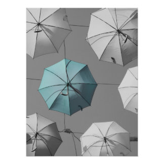 Blue Umbrella Poster/Print Poster