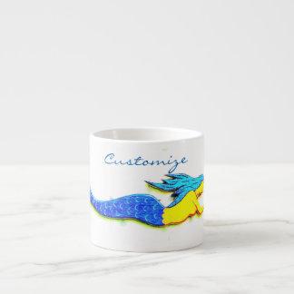 blue underwater mermaid Thunder_Cove Espresso Cup