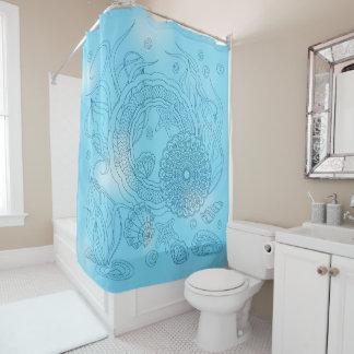 blue underwater world shower curtain