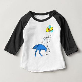 Blue unicorn baby T-Shirt