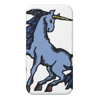 Blue Unicorn iPhone 4 Cover
