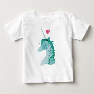 Blue Unicorn Magic with Heart Baby T-Shirt