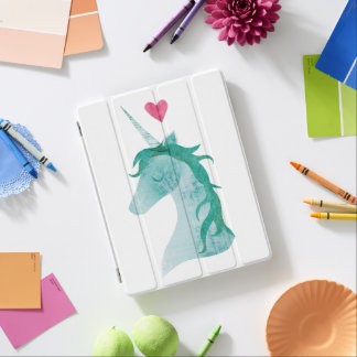 Blue Unicorn Magic with Heart iPad Cover