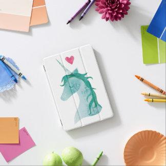 Blue Unicorn Magic with Heart iPad Mini Cover