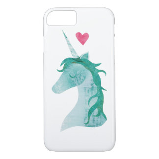 Blue Unicorn Magic with Heart iPhone 8/7 Case