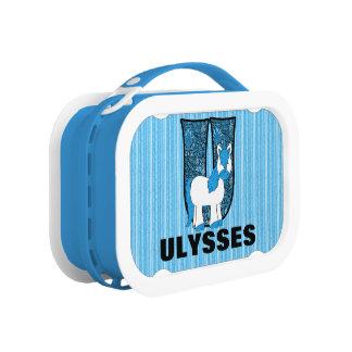 "Blue Unicorn Monogrammed ""U"" Lunch Box"