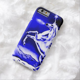 Blue Unicorn Night Airbrush Art iPhone 6 Case Barely There iPhone 6 Case