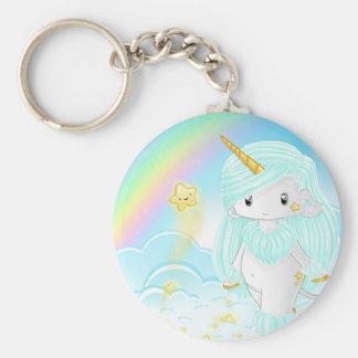 Blue Unicorn Po Key Ring