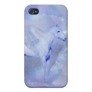 Blue Unicorn with wings fantasy iPhone 4/4S Covers