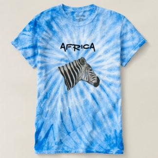 Blue Unisex Graphic Zebra Tie Dye Top