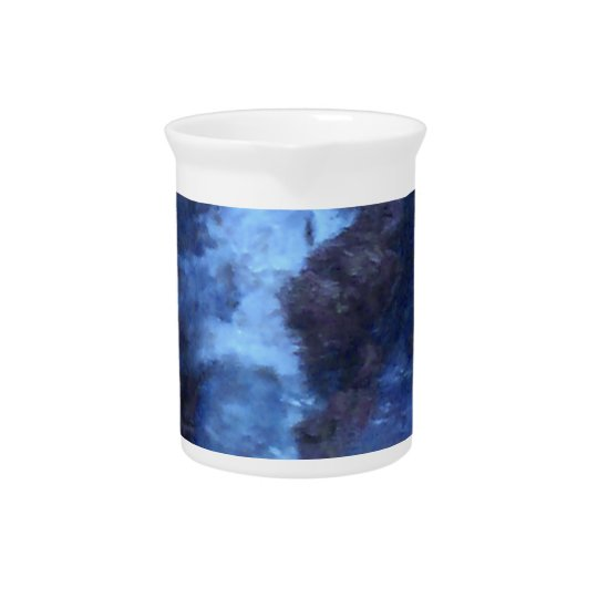 "BLUE UNIVERSE ABSTRACT"" MUG BEVERAGE PITCHERS"