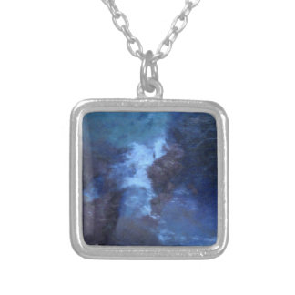 "BLUE UNIVERSe ABSTRACT"" PENDANT NECKLACE"