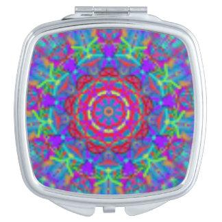 Blue Universe Mandala Pocket Mirror Travel Mirror