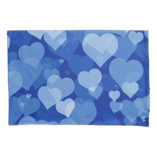 Blue Valentine Hearts (2 sides) Pillowcase
