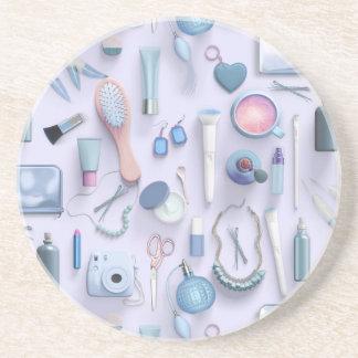 Blue Vanity Table Drink Coaster
