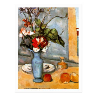 Blue Vase by Paul Cezanne Postcard